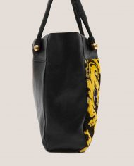 ALIMA-Nina-tote-bag-black-leather-and-vintage-fabric-side-2