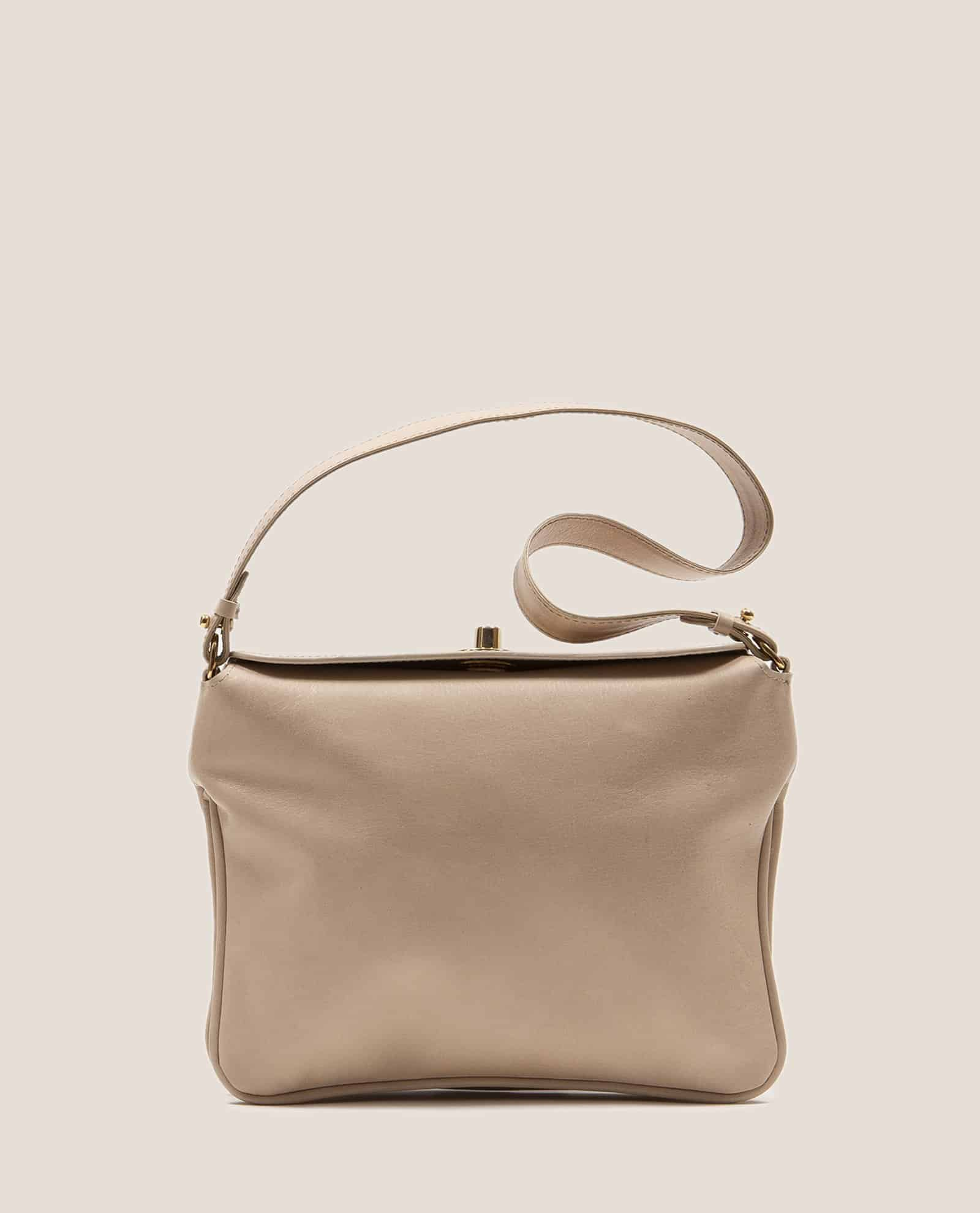 Bolso de mano de Petty Things color beige