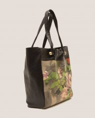MARTI-tote-bag-black-leather-and-vintage-fabric-side