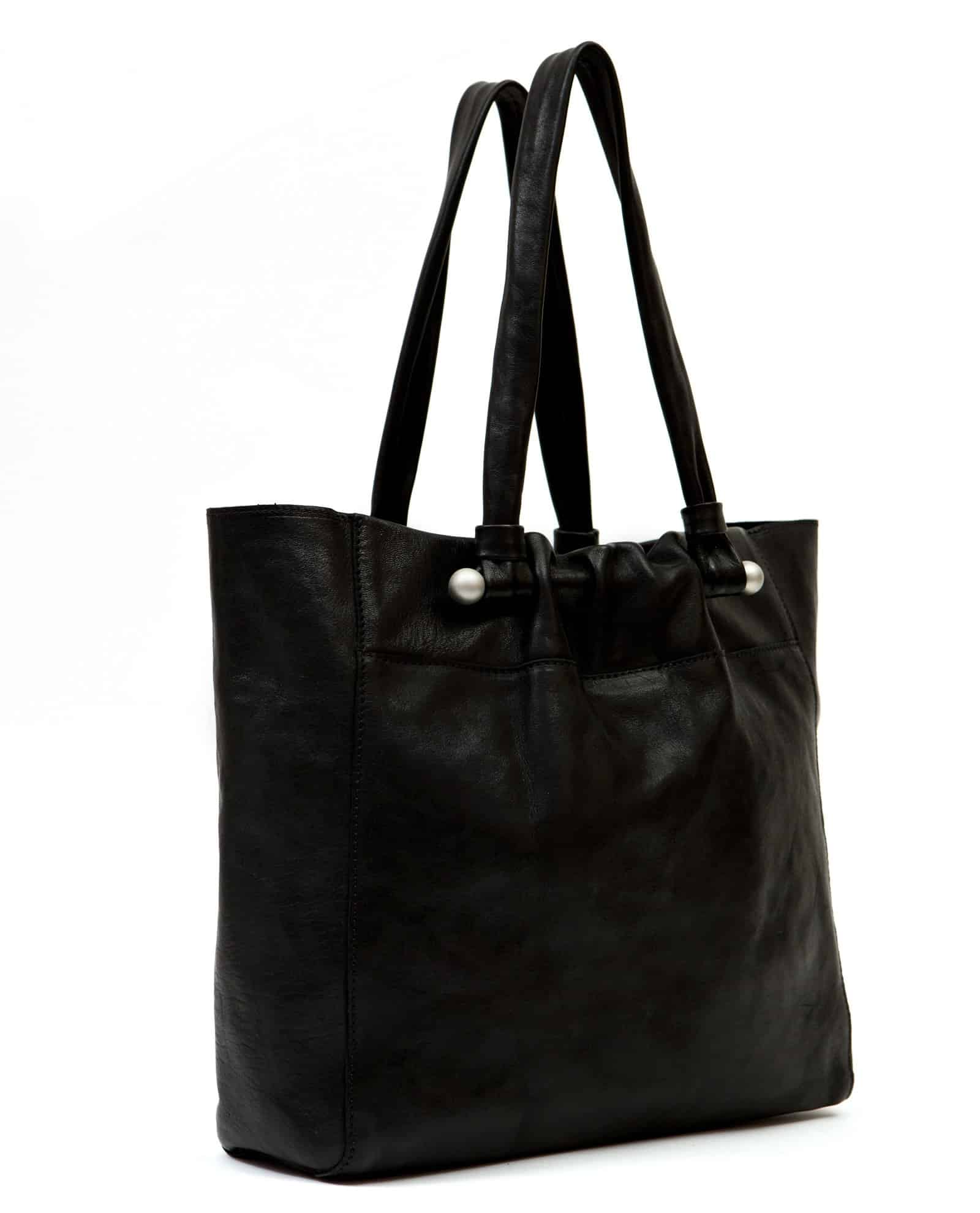 Tote bag, Nina black (ref #NPT-04) Petty Things – side