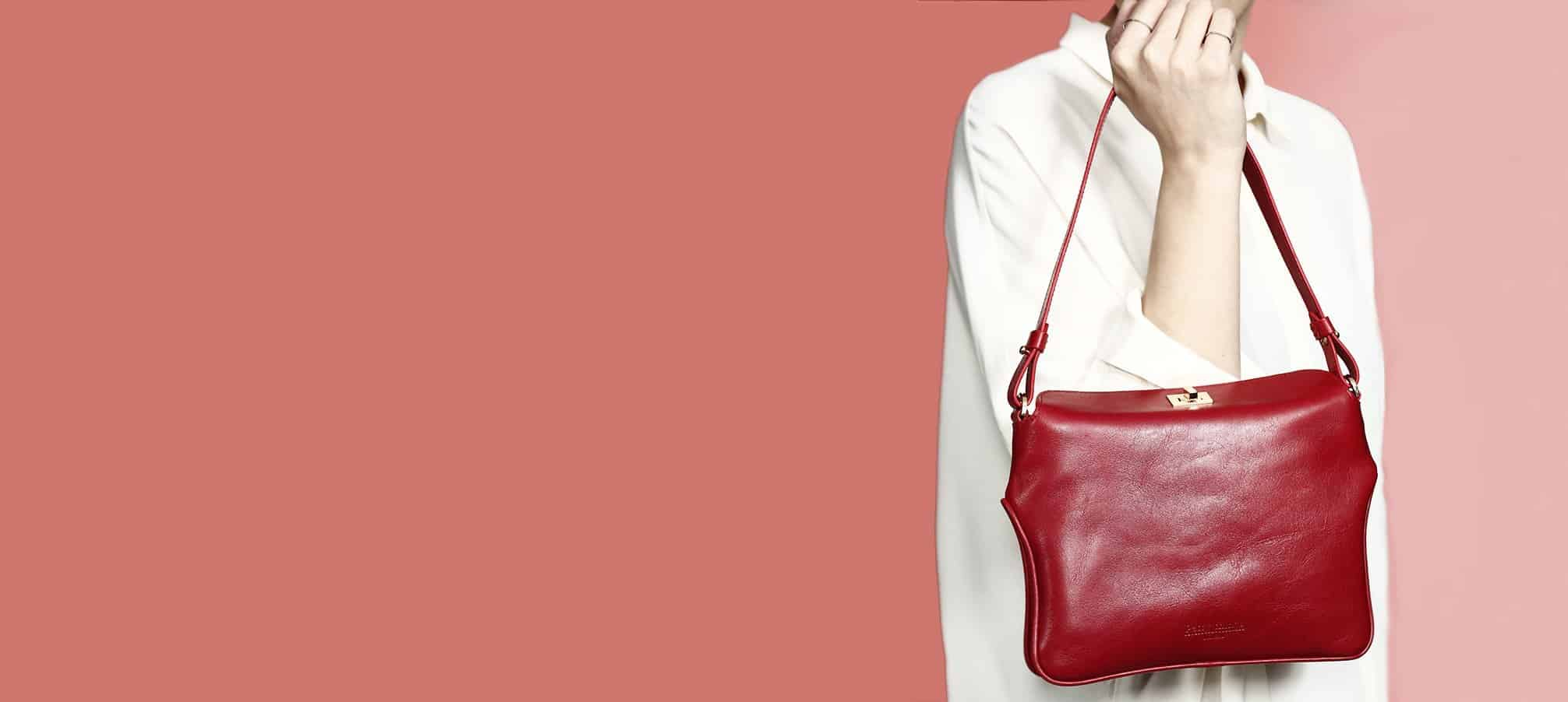 Handbag, Red leather lady bag, Chloe by Petty Things