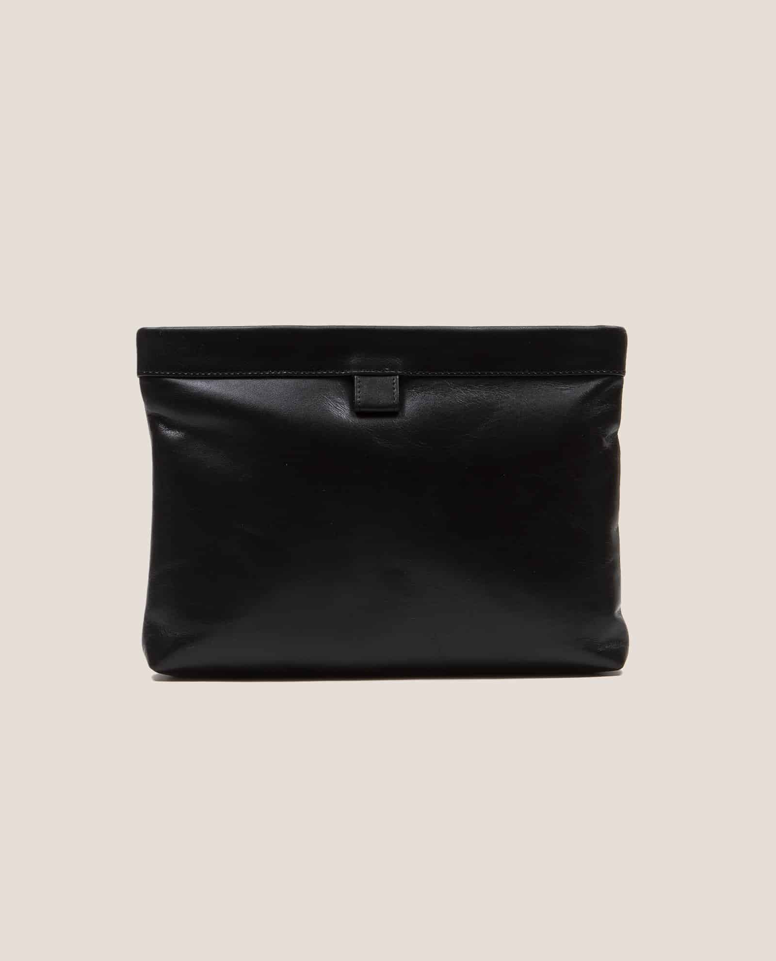 Clutch, handbag, Marlen black soft Napa (ref #MPN-28) Petty Things