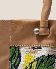 Tote bag, Nina Peter Rose (ref #NTR-48-01) Petty Things – detail handle