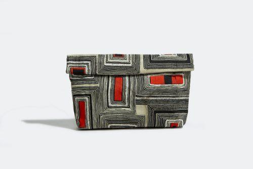 Clutch de lujo exclusivo con tejido vintage - KINONO
