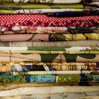 Vintage fabrics for Petty Things clutches and purses